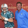 Dan Marino Meets His Madame Tussauds Orlando Wax Figure at Sun Life Stadium