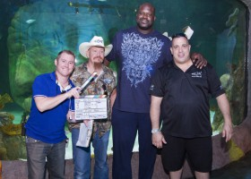 Shaq Films Season Finale of Tanked at New SEA LIFE Orlando Aquarium