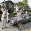Michael J. Fox Hangs Out with Doc Brown During Visit to  Universal Orlando Resort