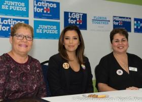 Eva Longoria Bastón campaigns for Hillary Clinton in Orlando