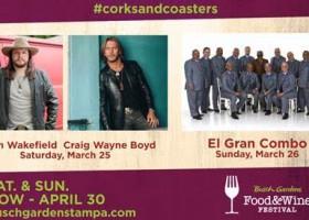 Craig Wayne Boyd, Adam Wakefield & El Gran Combo at Busch Gardens Food & Wine Festival this weekend!