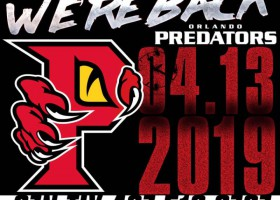 Orlando Predators to return to National Arena League for 2019 season