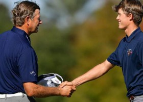 Team Goosen lead PNC Father Son Challenge at halfway stage