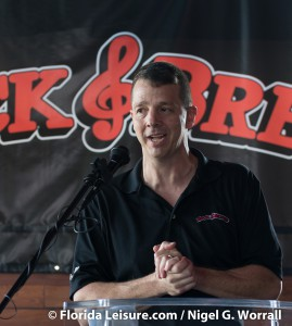 Sherman Harper, Manager at Rock & Brews Grand Opening, Oviedo, 6 January 2015 (Photographer: Nigel G. Worrall)