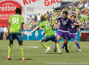 Seattle Sounders vs Orlando City Soccer, CenturyLink Stadium, Seattle, Washington - 16 August 2015  (Photographer: Karl Noakes)