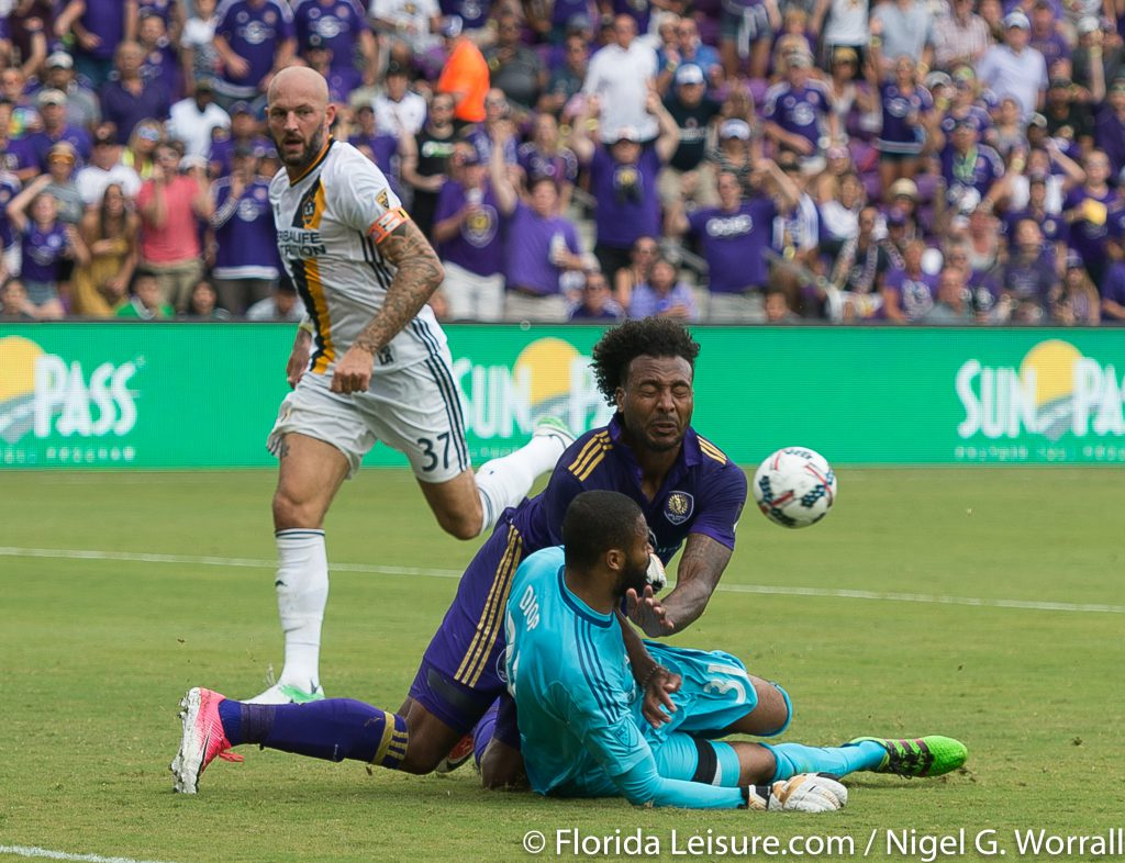 Orlando City Soccer 2 LA Galaxy 1, Orlando City Stadium, Orlando, 15th April 2017 (Photographer: Nigel G Worrall)